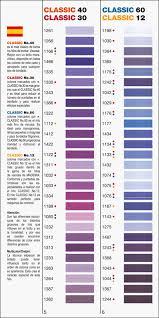 Madeira Embroidery Thread Colour Chart Colour Card Classic Madeira