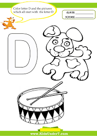 Color the letter D 1