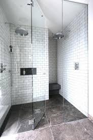 walk in shower pan shower pan bathroom contemporary with metro tiles walk in shower walk in shower pan