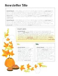 Free Thanksgiving Templates For Word Newsletter Template September Newsletter Template September