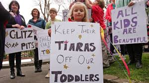 toddlers and tiaras and sexualizing year olds cnn a girl protests a child beauty pageant hosted by the u s company behind quot toddlers