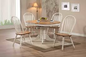 Antique Round Kitchen Table Antique White Round Dining Table By Eci Furniture Home