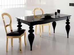 black or white lacquer dining table gold or silver leaf chairs black lacquer dining