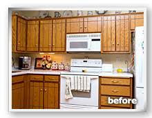 cabinet refacing before and after.  Before The Kitchen Before Renew Refacing Intended Cabinet Refacing Before And After O