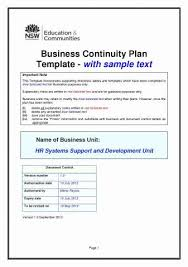 It Disaster Recovery Template Elegant Business Contingency Plan ...