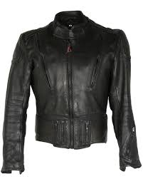 black leather hein gericke biker jacket s image