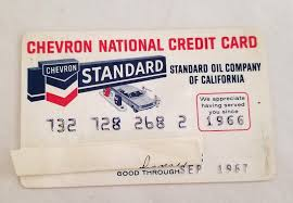 vine chevron gas standard oil credit card collector 1966 1967 1 of 2only 1 available
