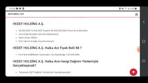HEDEF HOLDİNG HALKA ARZ OLUYOR DETAYLAR VIDEODA EN UCUZ HALKA ARZLARDAN  BIRTANESI - YouTube