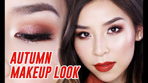 red copper autumn makeup tutorial great for hooded eyes beauty beauty