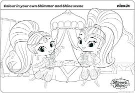 Coloring Pages Shimmer And Shine Coloring Pages Easy Together With