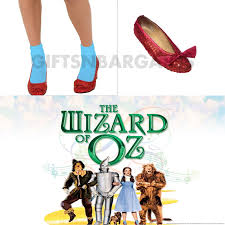 wizard of oz dorothy ruby red sequin shoe covers gifts n bargains