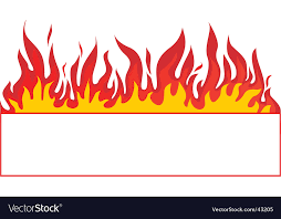 fire banner background royalty free