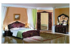 Italienische Barock Nachtkommode Rouza In Mahagoni Schlafzimmer Sets