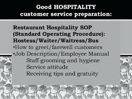 Restaurant Employee Training Manual Sample Page Sop Procedure ...