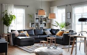 ikea black furniture. The Black VIMLE 5-seat Corner Sofa With Chaise Longue In The Centre Of A Ikea Furniture B