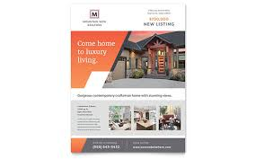 Real Estate Flyers Templates Mountain Real Estate Flyer Template