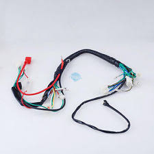 chinese quad parts accessories electric start wiring harness loom for chinese quad pit bike 50 125cc go kart