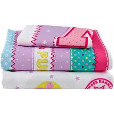 twin paw patrol girl pink bed in bag bedding comforter set reversible soft skye