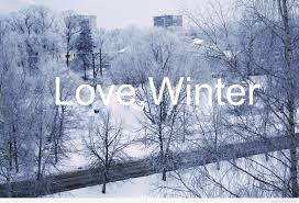 love winter saying image with a wonderful picture
