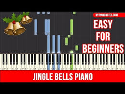 Letter names of notes embedded in each notehead! Jingle Bells Piano Notes With Chords Letters Easy For Beginners