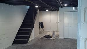 Decoration Makeover Basement Painted With White Wall Interior - Painted basement ceiling ideas