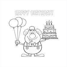 Birthday Cake Coloring Pages Printable Houseofhelpccorg