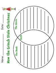 Book Vs Movie Venn Diagram Grinch Book Vs Movie Venn Diagram
