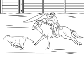 Small Picture Calf Roping Rodeo coloring page Free Printable Coloring Pages