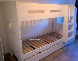 white wooden bunk beds with desk bunk beds with desk and trundle