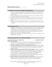 job summary for resume