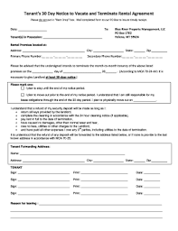 Florida 30 Day Notice To Vacate Template Form Fill Out And