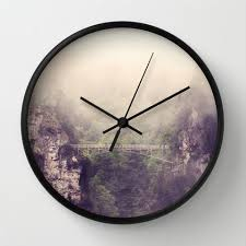 art wall clock breathtaking modern photography home decor forest