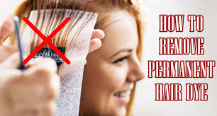 to remove permanent hair dye