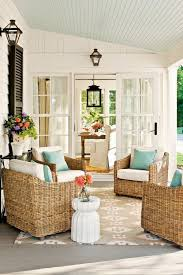 sun porch furniture ideas. this could be our sunroom sloped blue beadboard ceiling woven chairs etc sun porch furniture ideas