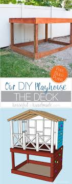even though our yard is small we decided we still needed a diy playhouse