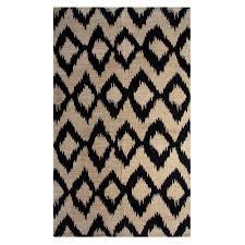 chesapeake merchandising ikat navy 5 ft x 7 ft indoor printed area rug
