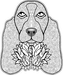 Adult Coloring Pages Dog 4