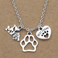new i love my dog lover gifts cute best friend heart dog s paw pendants necklace