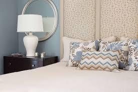 bedroom bed pillows lamp mirror interior designer carla aston