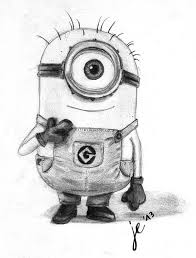 Drawings Of Minions Minion Freehand Drawing By Zackbag On