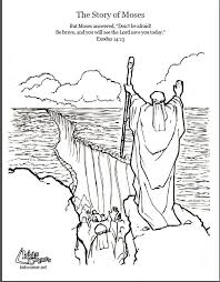 Moses Red Sea Coloring Page Unique Photos Moses Coloring Pages