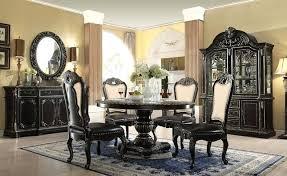 gothic dining room dark round 5 set in ebony gold finish chandelier
