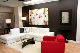 black furniture room ideas. Living Room, Modern Small Room Interior Ideas Showing On Black Paint Schemes And Fancy Furniture