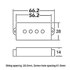 genuine wilkinson wpb alnico v bass pickups for pb type guitars precision jpg wilkinson pickups wiring diagram wilkinson auto wiring diagram 500 x 500