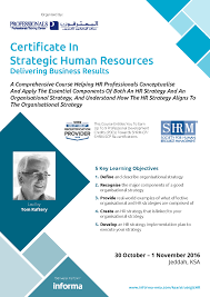 certificate in strategic hr delivering business results hr brochure
