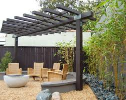 Contemporary patio with Bamboo Garden