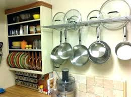 pots and pans wall racks kitchen hangers for pots and pans pot and pan rack hanging