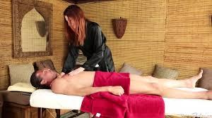 Blowjob redhead masseuse sucks