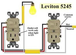 wiring in the home combination switch outlet levitron switch leviton 5245 3 way combo a in 2019 wire switch wire dyi leviton 5245