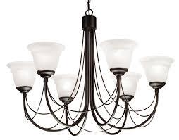 carisbrooke 6 light chandelier with glass shades elstead lighting